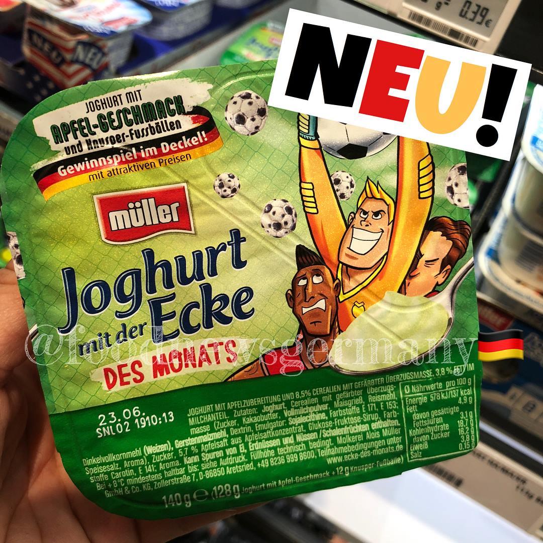 Joghurt mit der Ecke des Monats WM Edition