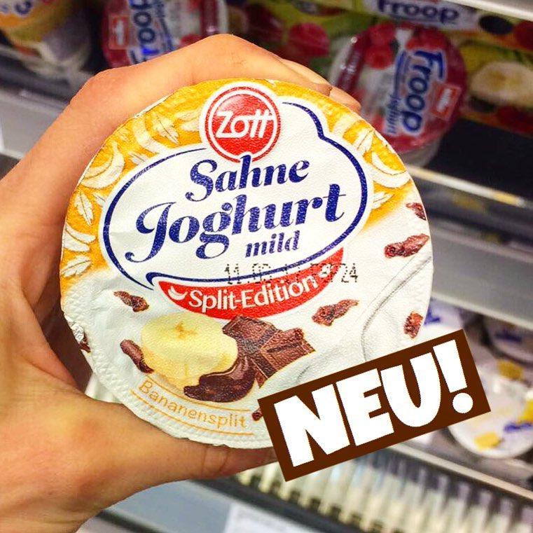 Zott Sahnejoghurt Bananen-Split