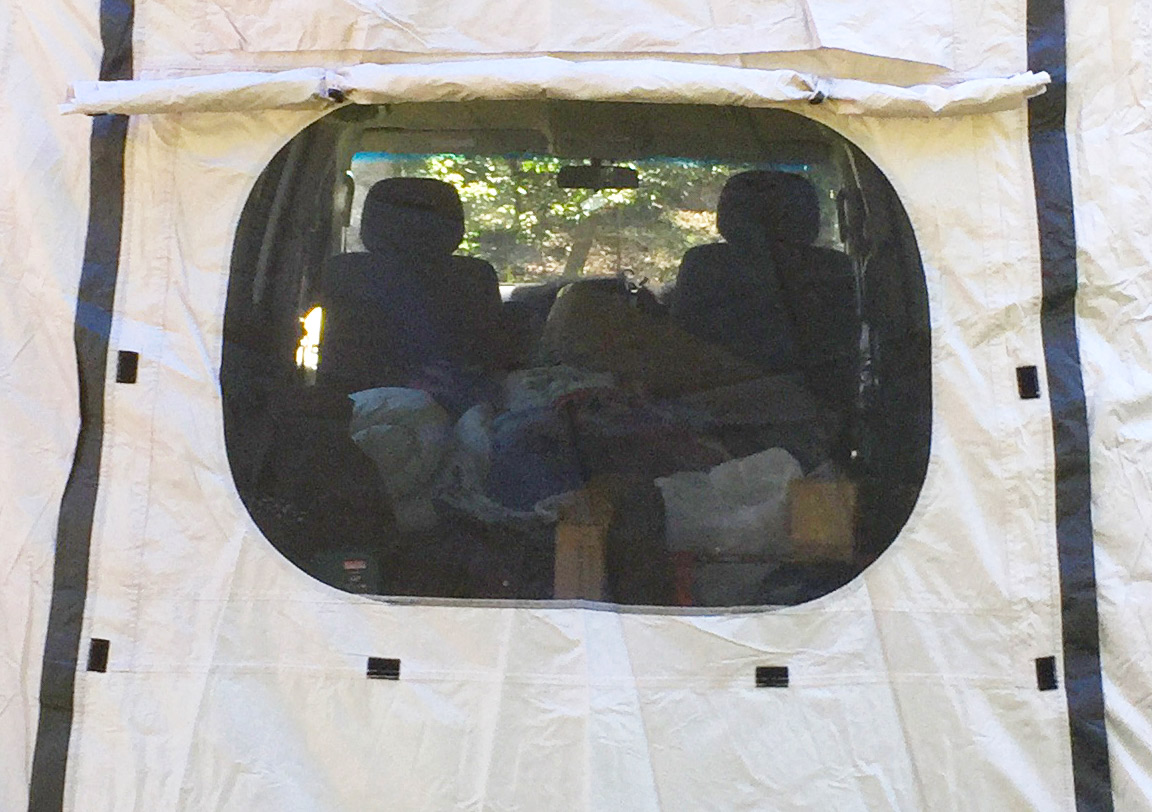 rear with large window with insect mesh