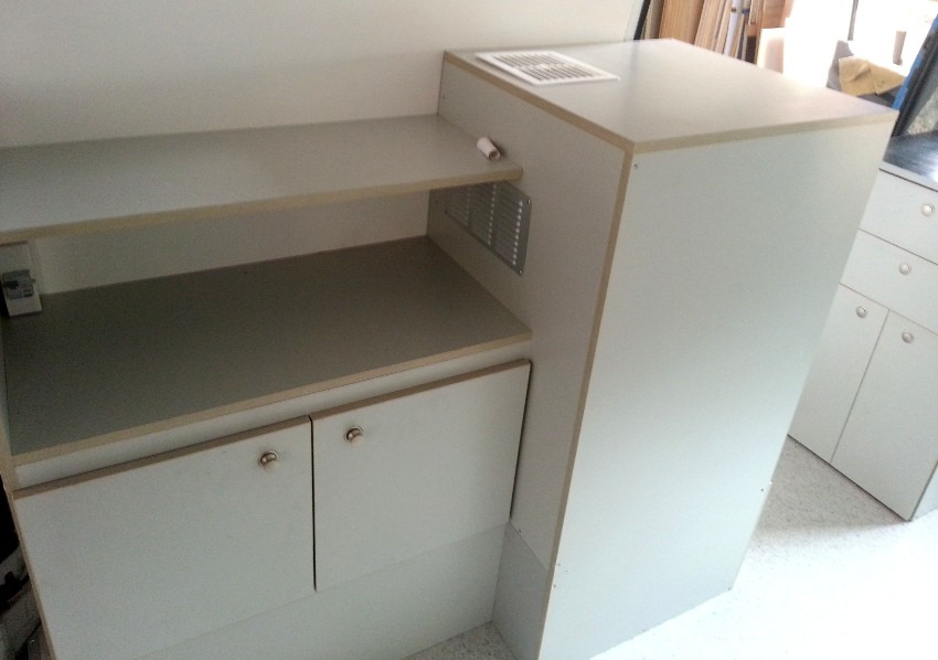 side board with fridge cupboard