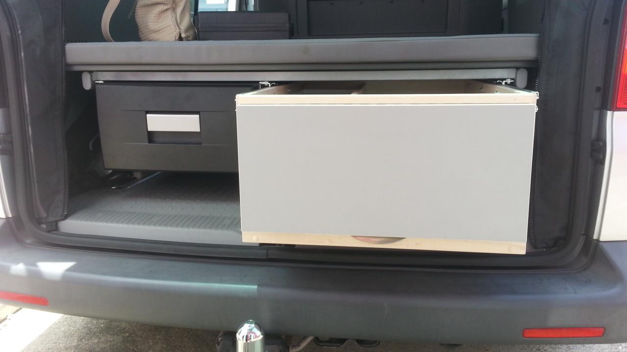 T5 under bed slide out frdige and kitchen drawer