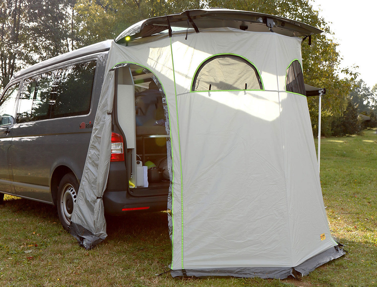tailgate shower tent for vans VW T5 T6 & van tents - Southern Spirt Campervans - true custom build RVu0027s