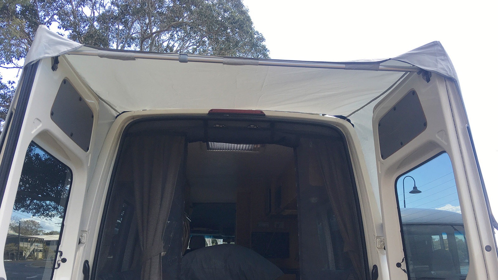 Mercedes Sprinter and VW Crafter rear awning