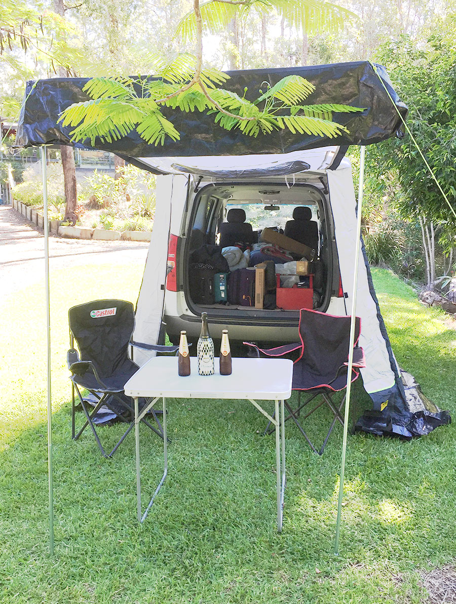 rear section can be used as a shade sail extension