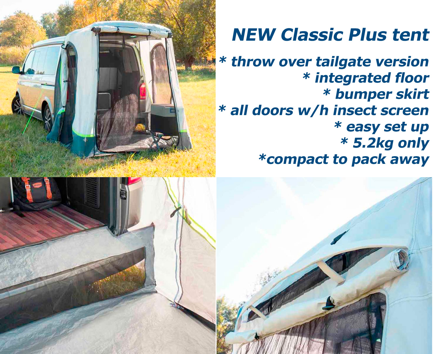 Classic Plus tent- for even more comfort
