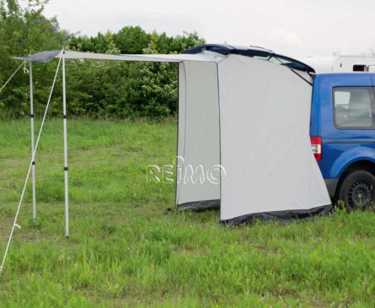 Minicamper rear tent shadesail set up