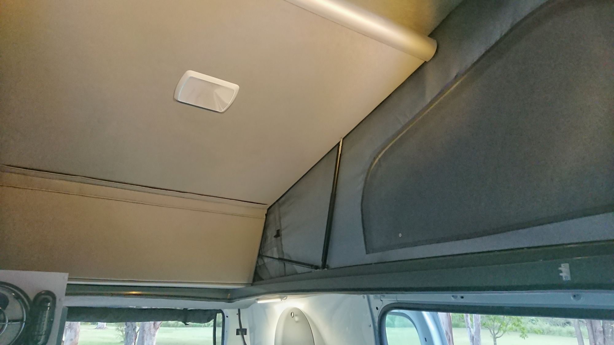 maximium standing height inside your van from front to rear