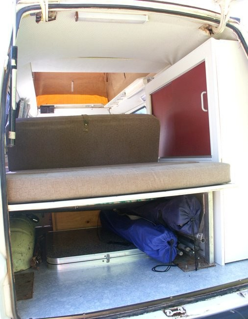 full refurbishment in a Nissan Urvan poptop camper