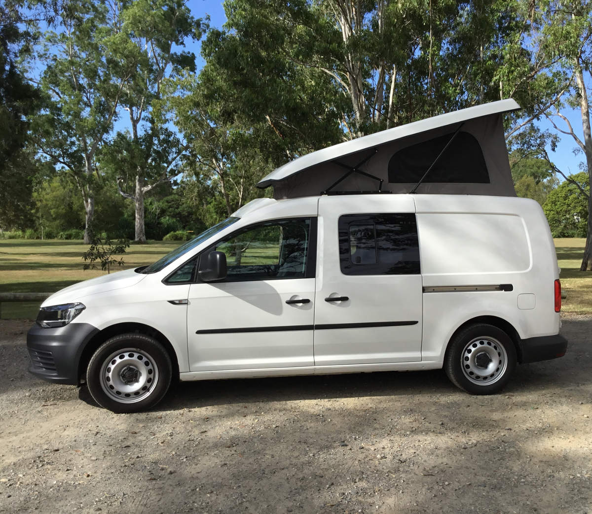 VW Caddy roof - Southern Spirt Campervans - true custom build RV's