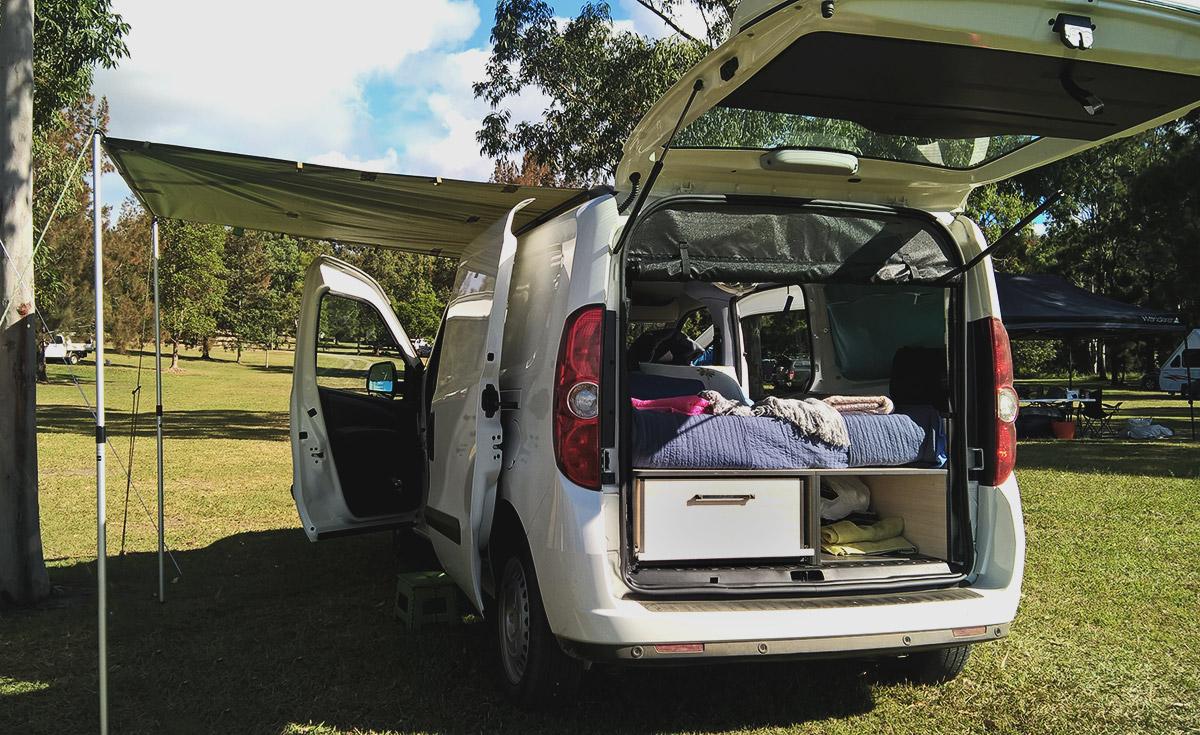 super compact Car Camper Fiat Doblo