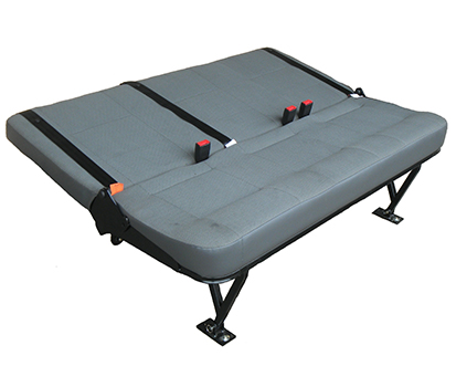 this seat bench will create 2/3 of a bed option