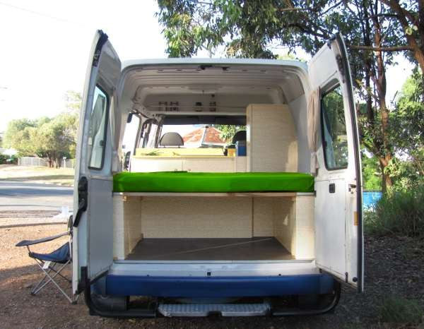 short wheel base with rear bed configuration to sleep east/west
