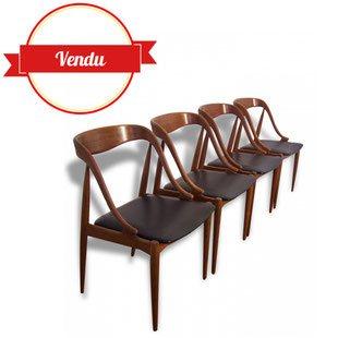 chaise,danoise,denmark,scandinave,1960,1950,teck,teack,vintage,iconique,cuir,johannes,andersen,noir,bois,chic,tendance