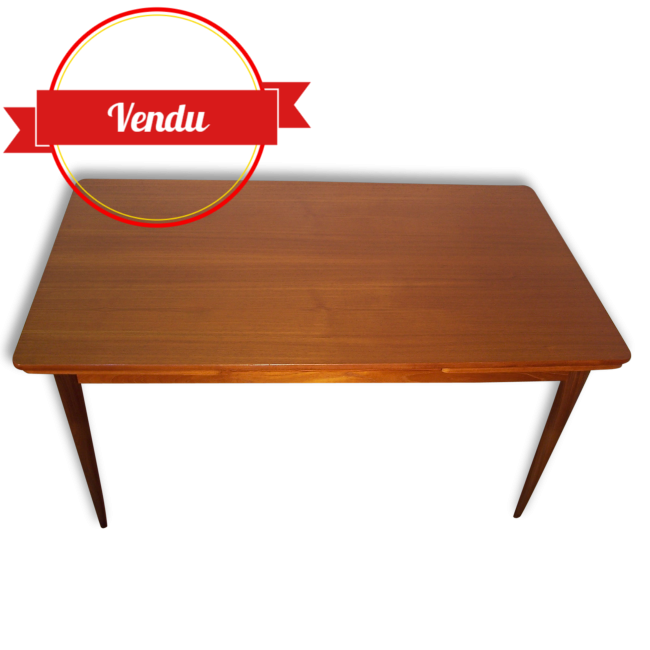 Table scandinave en teck annees 1960 majdeltier for Table scandinave en teck
