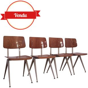 chaise,galvanitas,s16,vintage,industriel,1950,1960,friso kramer,