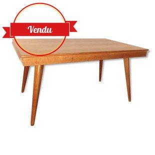 Table, chêne, scandinave, 1950,vintage,meubles,mobilier,meuble