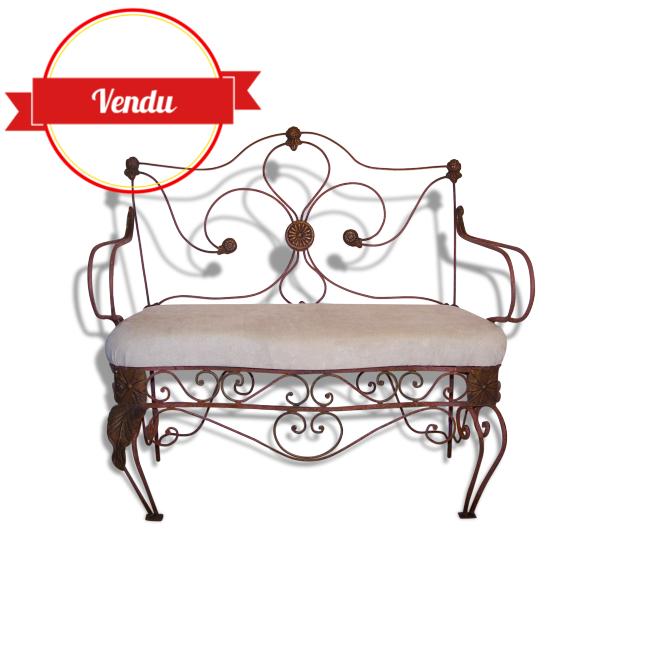 banc d exterieur ancien en fer forge majdeltier. Black Bedroom Furniture Sets. Home Design Ideas