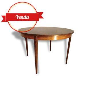 Table, ronde, extensible, palissandre, scandinave, vintage,1950, 1960
