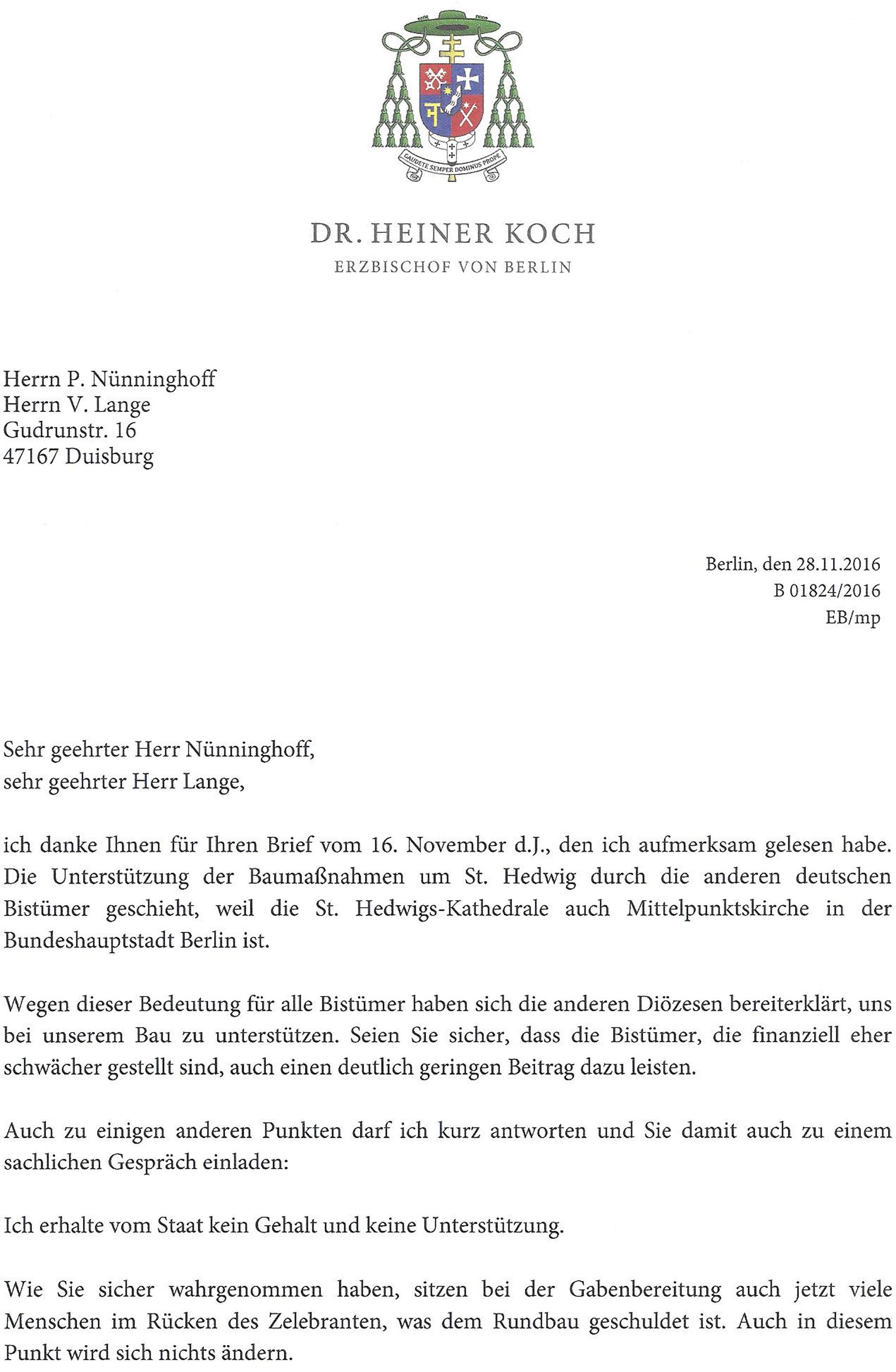 Offener Brief Aus Dem Bistum Essen An Den Erzbischof Freunde