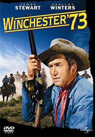 Winchester73-Held mit Waffe im wilden Westen