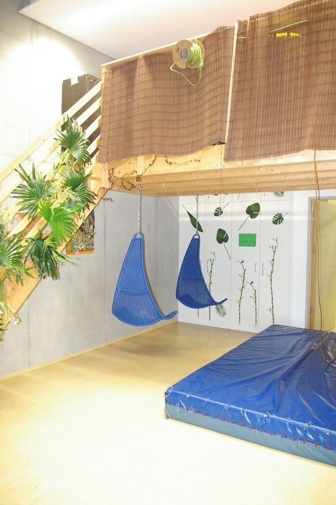 Das Baumhauszimmer mit Tobemöglichkeit
