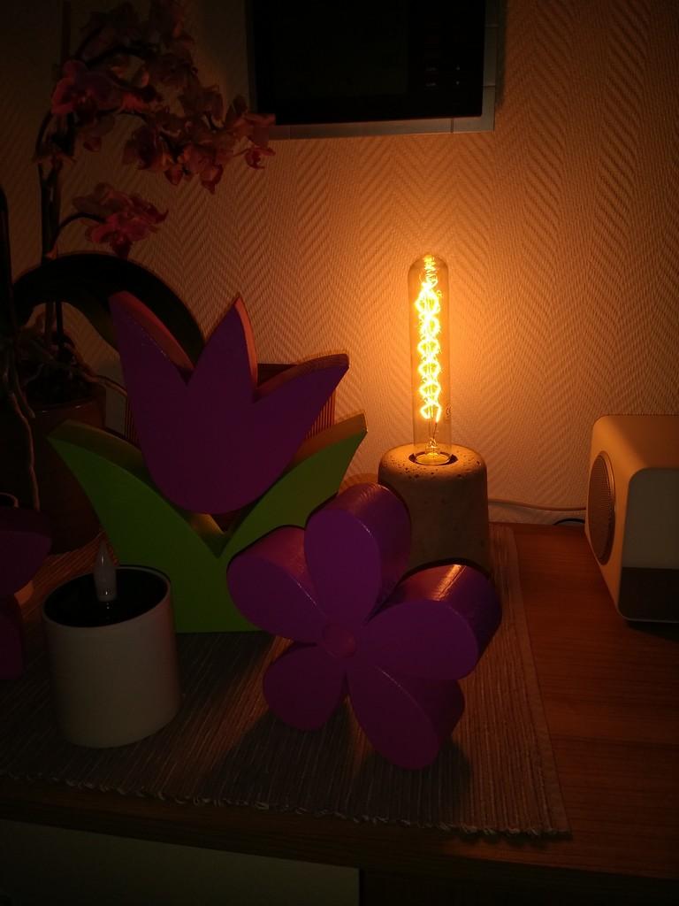 Beton-Lampe