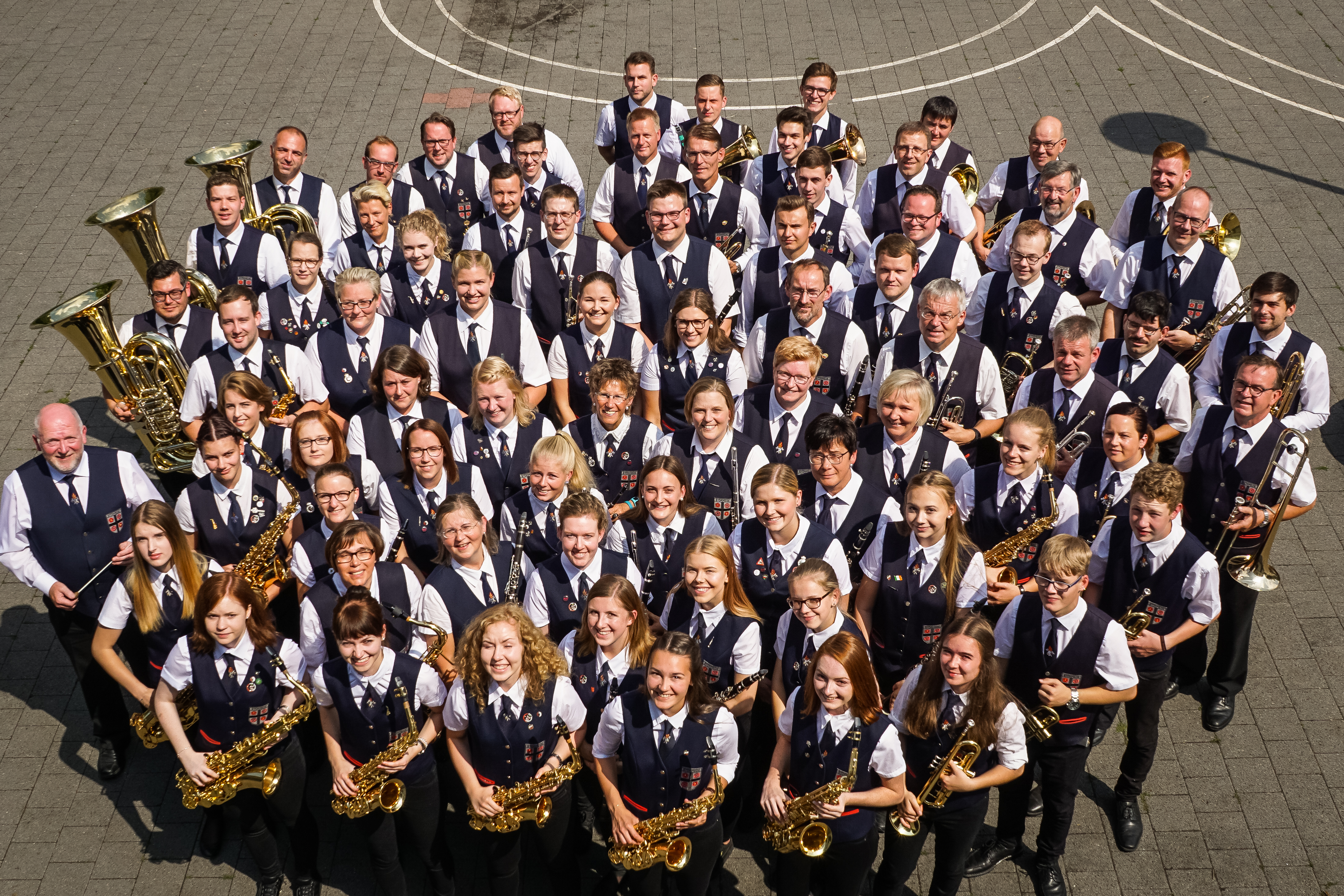 Musikzug Störmede Gemeinschaftsfoto Kloster Nazareth 2011