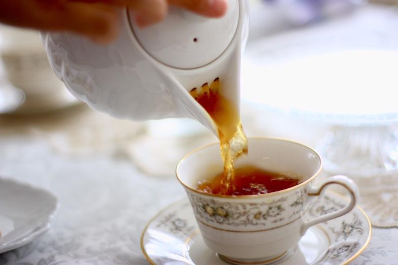 紅茶の色が好き。