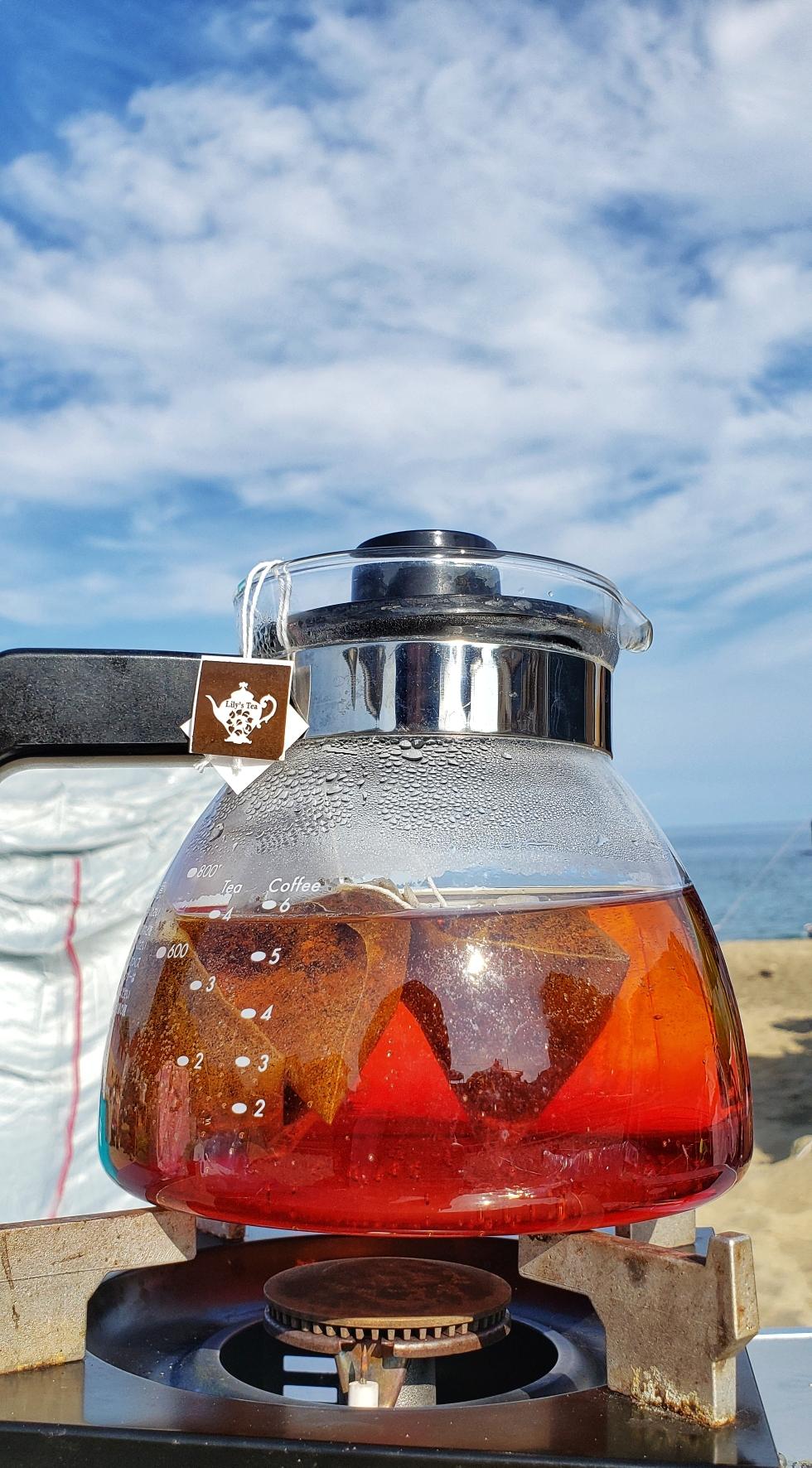 キャンプde紅茶