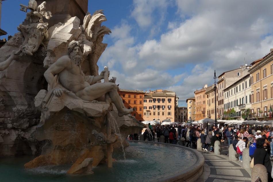 Rom - Piazza Navona - Vierströmebrunnen
