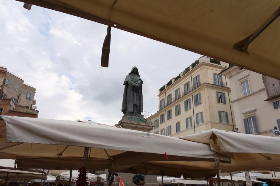 Rom - Campo de' Fiori, Giordano Bruno