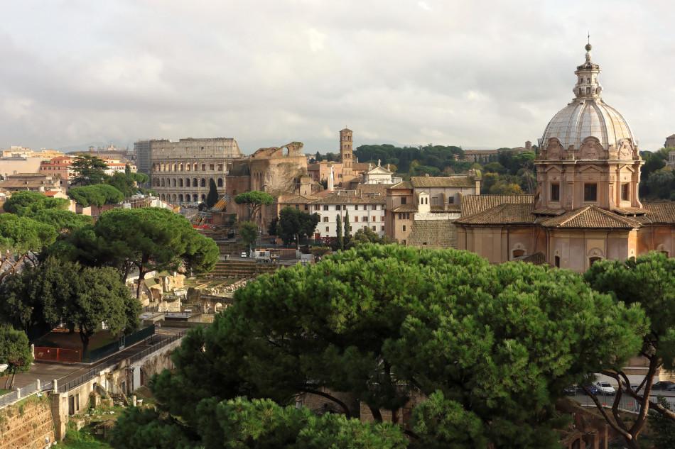 Rom - Blick auf das Colosseum