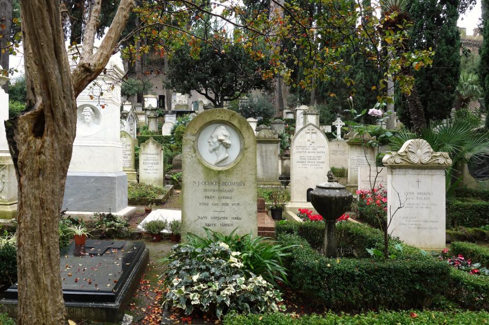 Rom, Cimitero acattolico, protestantischer Friedhof