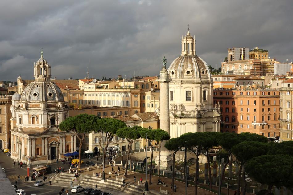 Rom - Blick auf das Trajansforum mit der Trajanssäule