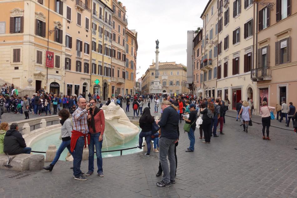 Rom - Fontana della Barcaccia