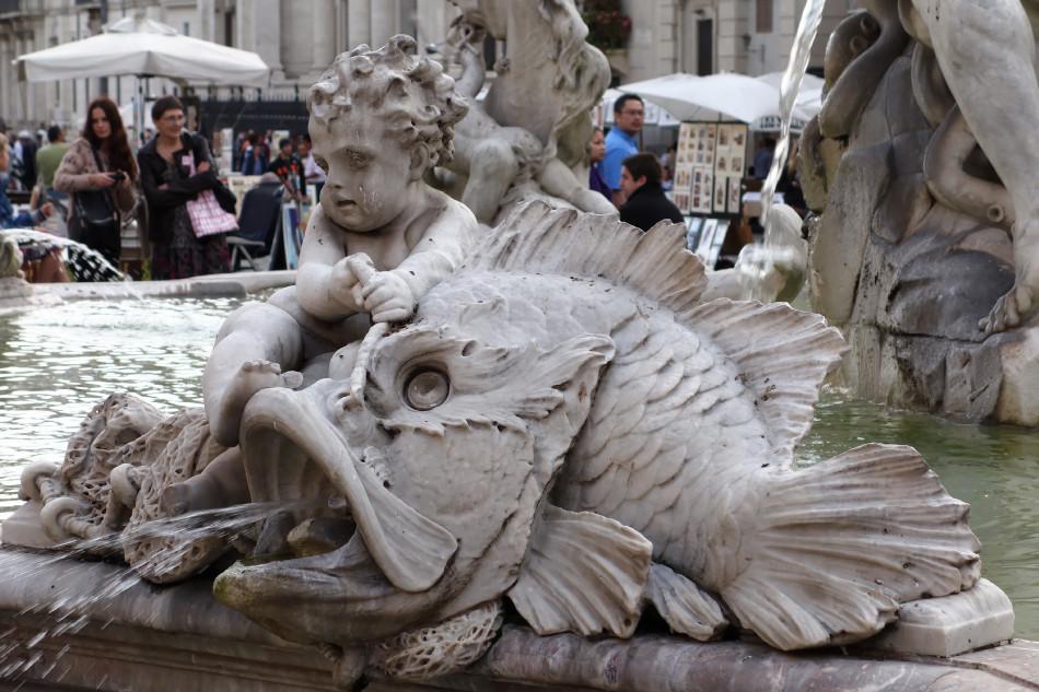 Rom - Piazza Navona - Neptunbrunnen
