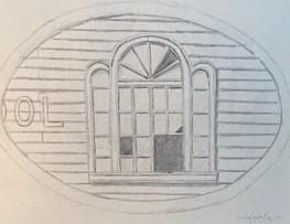 OLD SCHOOL WINDOW 7.25 x 9.25 pencil