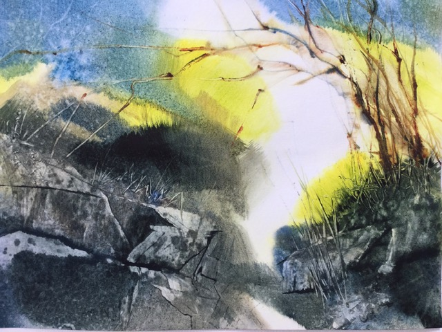 ON EVERY TRAIL THERE COMES A MOMENT 12 x 15 watercolour by Ruth Reid