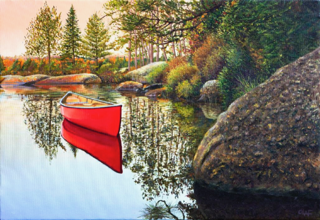 EARLY TO RISE 22 x 34 oil on canvas