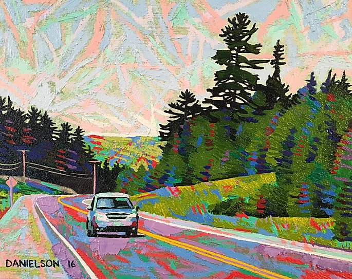 Deer Trail Route  8 x 10 oil on composite board