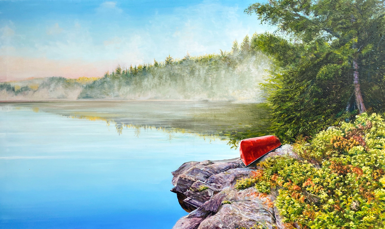 THE BEST DAY EVER    36 x 60 oil on canvas