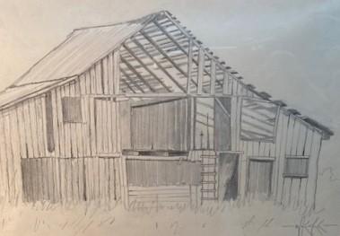 OLD BARN #2 6.75 x 9.75 pencil