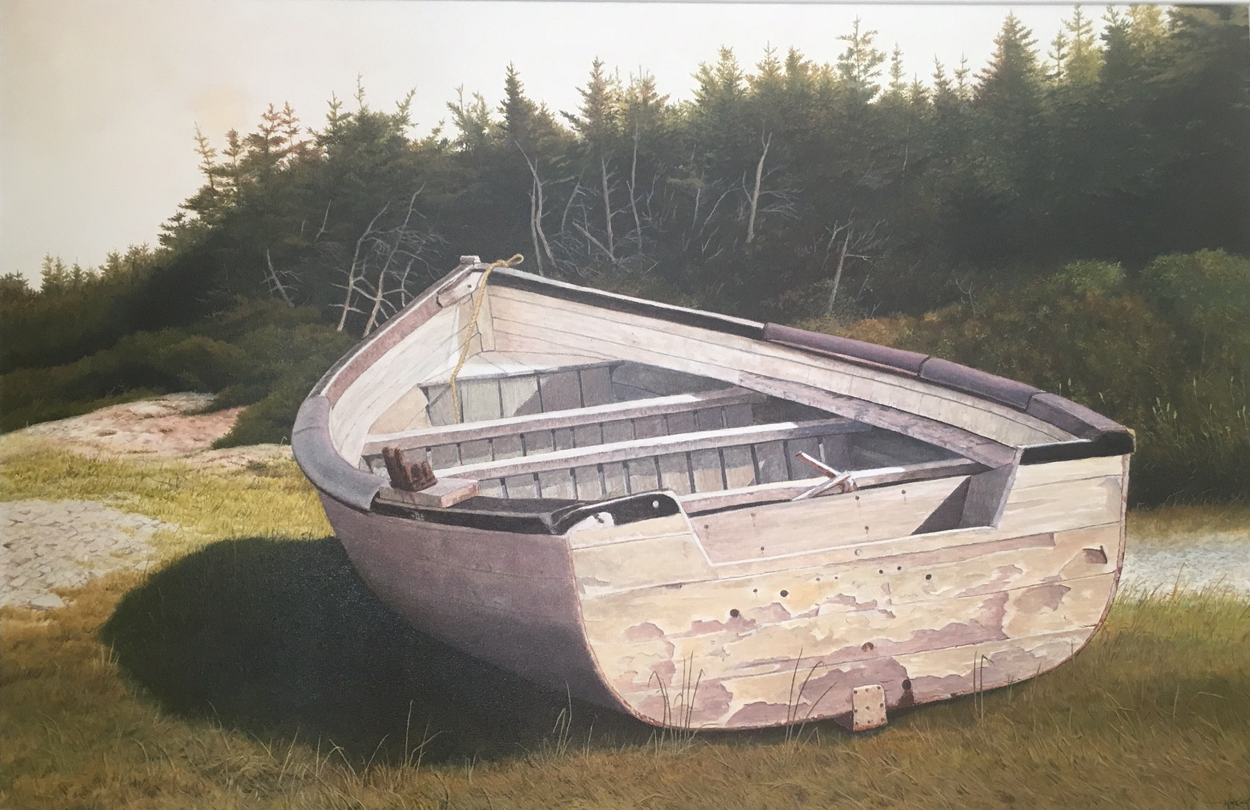 The Old Boat. Ivan Wheale oil on canvas  24 X 36