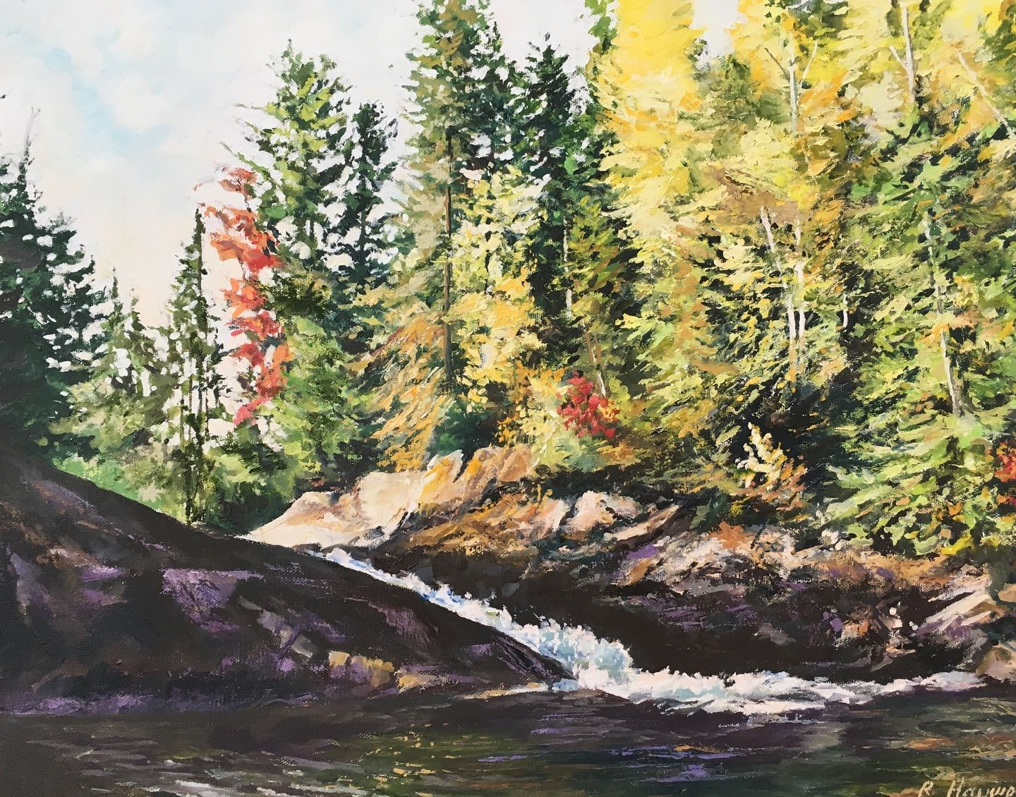 Fall , Spanish River  18 x 24 oil