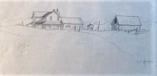 CHELMSFORD FARM  4.5 x 9.25 pencil