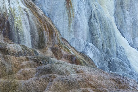 Mammoth Hot Springs Abstract, Yellowstone N.P. 18 x 27  photographMetal matte finish