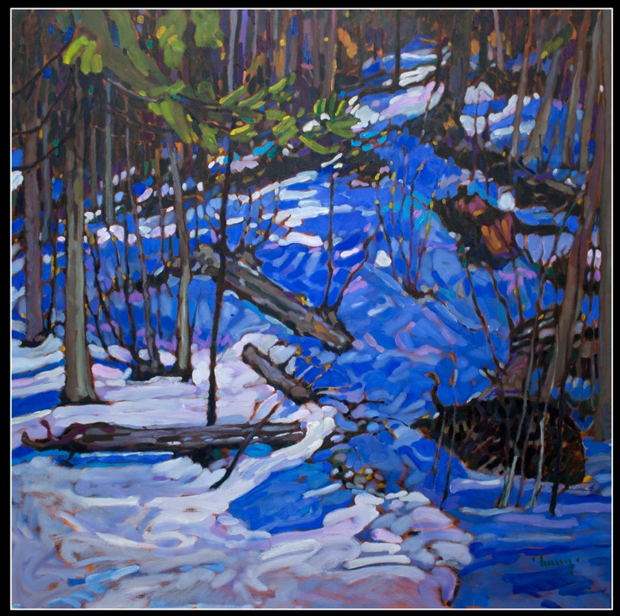 WINTER IN THE WOODS, after Tom Thomson 48 x 48 oil