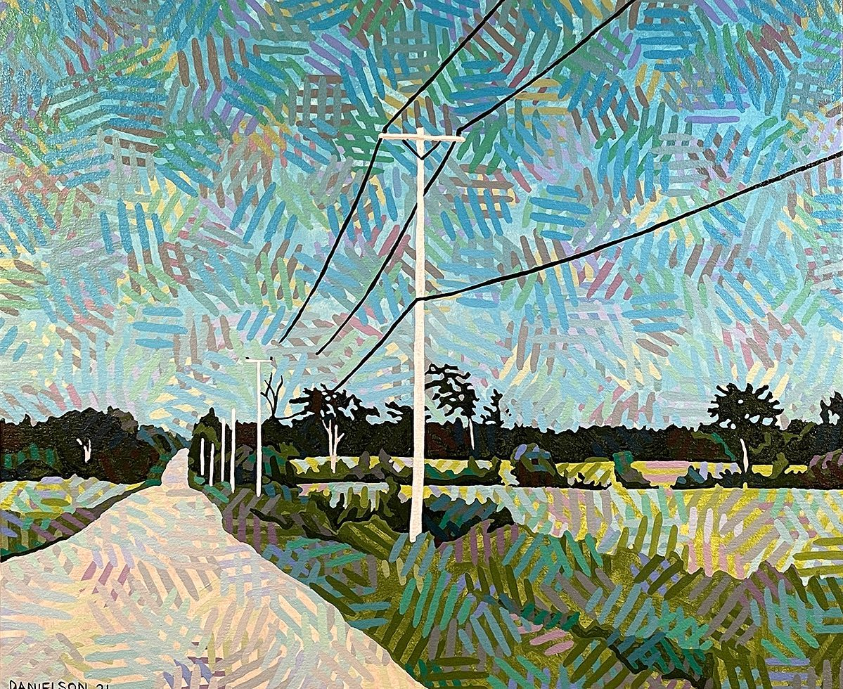 LEARMONT ROAD 19 x 23 acrylic on canvas