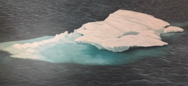Floating Ice   oil on canvas 22 x 48 (framed 28 x 52)
