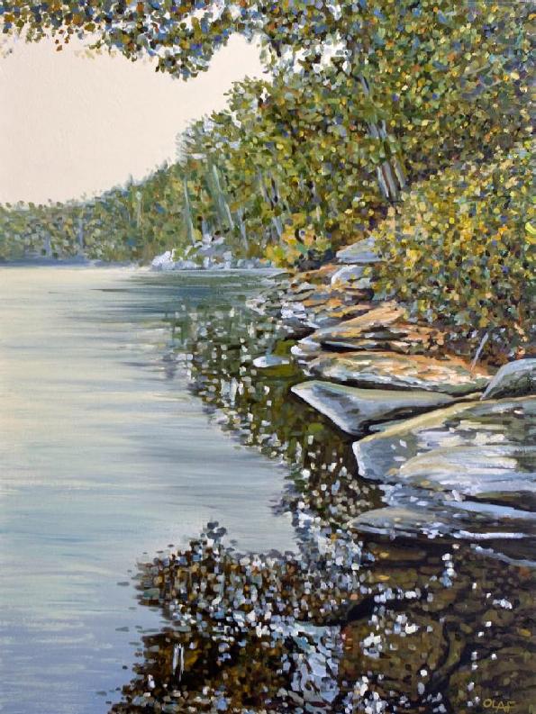 SHORELINE 40 x 30 oil on canvas